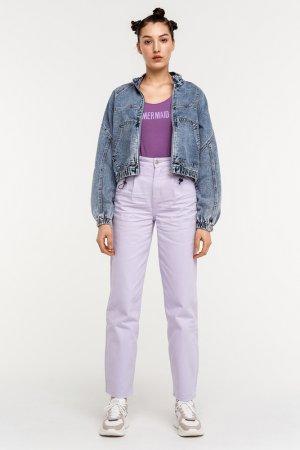 Куртка джинсовая befree. Цвет: 102, голубой индиго