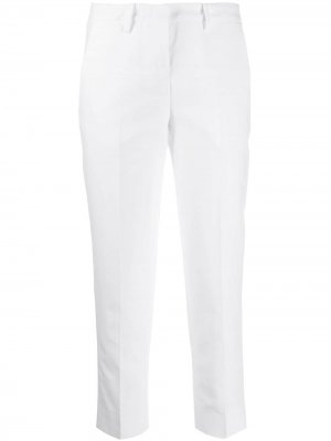 Классические брюки чинос Love Moschino. Цвет: белый