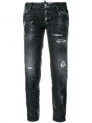 Укороченные джинсы с рваными деталями Dsquared2