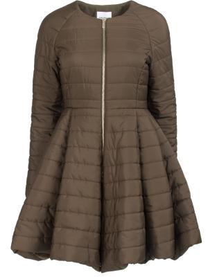 Расклешенная куртка Anna Rita. Цвет: зеленый