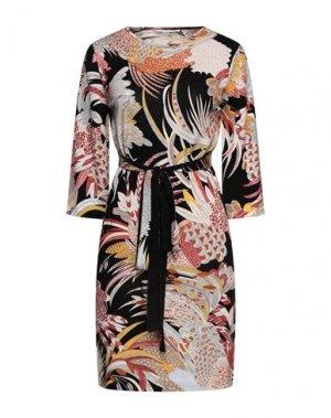 Короткое платье LEONARD Paris. Цвет: кирпично-красный