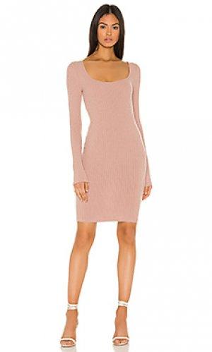 Мини платье Enza Costa. Цвет: розовый