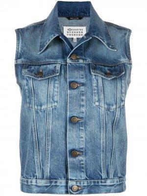 Джинсовая куртка без рукавов Maison Margiela. Цвет: синий