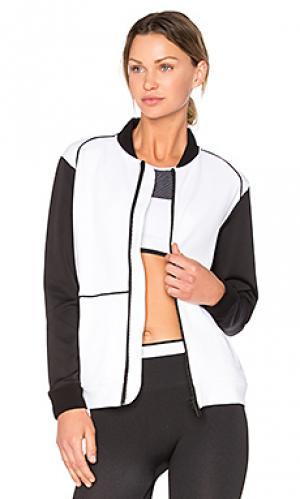 Куртка-бомбер со шнуровкой сзади ALALA. Цвет: белый