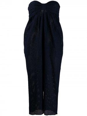 Зауженное платье Marysia. Цвет: синий