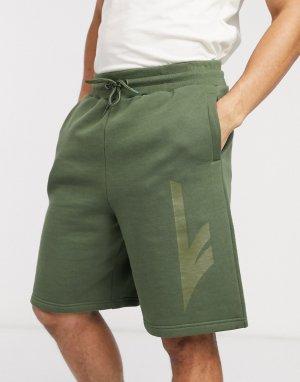 Зеленые трикотажные шорты -Зеленый цвет Hi-Tec