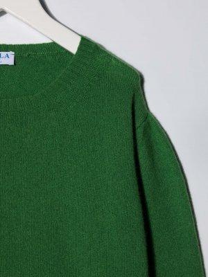 Кашемировый джемпер с круглым вырезом Siola. Цвет: зеленый
