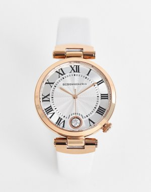 Часы с белым ремешком BCBG Max Azria-Белый MaxAzria