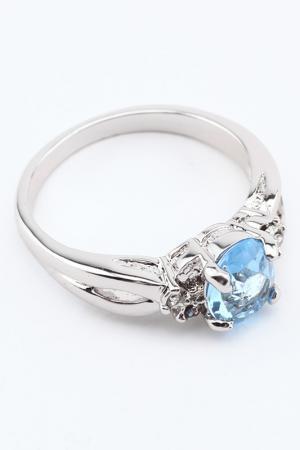 Кольцо Slava Zaitsev. Цвет: серебро, голубой
