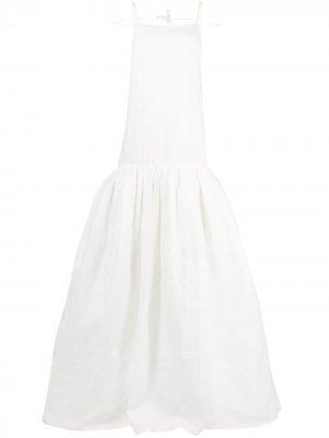 Расклешенное свадебное платье Amour Jacquemus. Цвет: белый