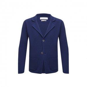 Хлопковый пиджак Daniele Fiesoli. Цвет: синий