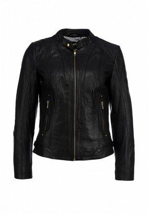 Куртка кожаная Naf NA018EWBRZ12. Цвет: черный