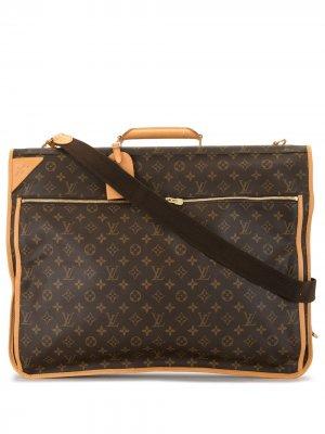 Дорожная сумка с ручкой и ремнем 2002-го года Louis Vuitton. Цвет: коричневый