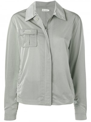 Куртка-рубашка на молнии Misbhv. Цвет: серый