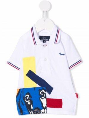 Рубашка поло с нашивкой-логотипом Harmont & Blaine Junior. Цвет: белый