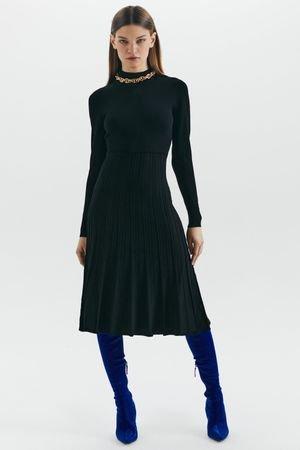 Приталенное трикотажное платье миди LOVE REPUBLIC