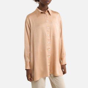 Рубашка LaRedoute. Цвет: каштановый