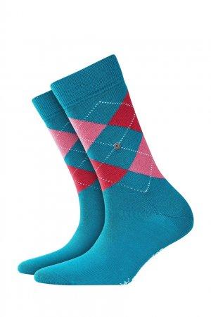 Бирюзовые трикотажные носки Burlington. Цвет: зеленый