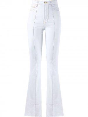 Расклешенные джинсы с завышенной талией Amapô. Цвет: белый