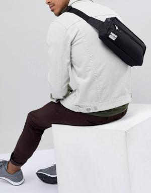 Черная сумка-кошелек на пояс Mi-Pac. Цвет: черный