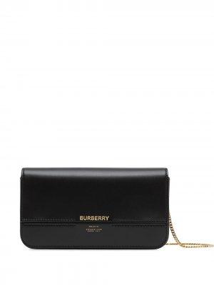 Клатч с логотипом Burberry. Цвет: черный
