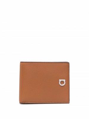 Бумажник с логотипом Salvatore Ferragamo. Цвет: коричневый