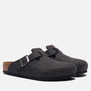 Мужские сандалии Boston Wool Birkenstock. Цвет: серый