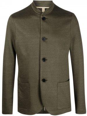Однобортный пиджак Harris Wharf London. Цвет: зеленый