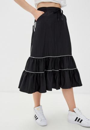 Юбка adidas Originals UTILITY SKIRT. Цвет: черный