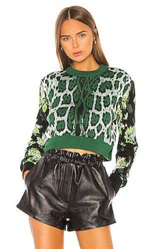 Пуловер maglia MSGM. Цвет: зеленый