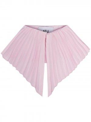 Плиссированный воротник Atu Body Couture. Цвет: розовый