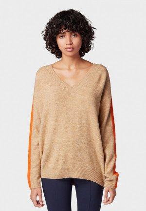 Пуловер Tom Tailor Denim. Цвет: бежевый