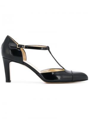 Туфли-лодочки с Т-образным ремешком Antonio Barbato. Цвет: черный