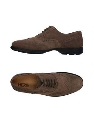 Обувь на шнурках HENNE. Цвет: голубиный серый