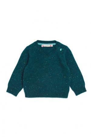 Зеленый кашемировый пуловер Bonpoint. Цвет: зеленый