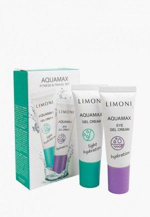 Набор для ухода за лицом Limoni AQUAMAX Fitness & Travel Set увлажняющий гель-крем лица, 25 мл + кожи вокруг глаз,. Цвет: белый