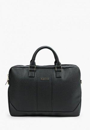 Сумка Guess для ноутбуков 15 Saffiano Bag Black. Цвет: черный