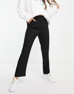 Черные облегающие брюки-сигареты -Черный цвет ASOS DESIGN