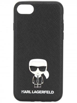 Чехол Ikonik Pin для iPhone 8 Karl Lagerfeld. Цвет: черный