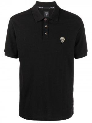 Рубашка поло с нашивкой-логотипом Automobili Lamborghini. Цвет: черный