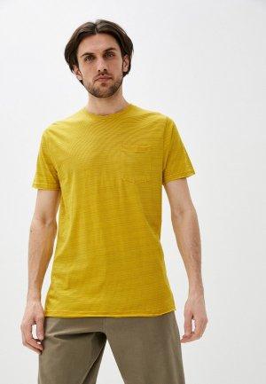 Футболка Indicode Jeans. Цвет: желтый