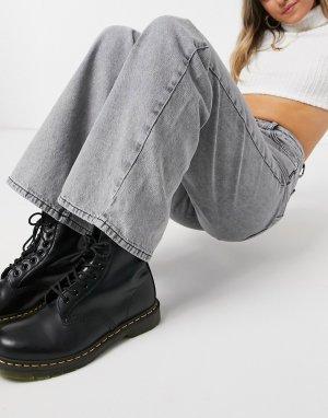 Серые широкие джинсы -Серый New Look