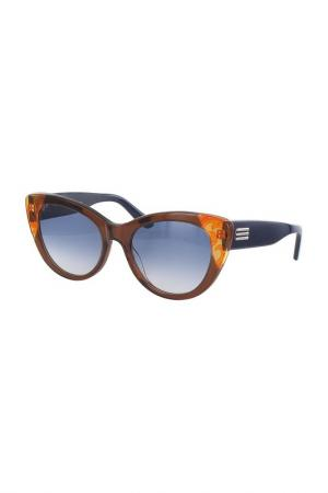 Очки солнцезащитные Etro. Цвет: коричневый, синий
