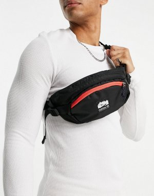 Черная сумка-кошелек на пояс Adventure-Черный цвет adidas Originals
