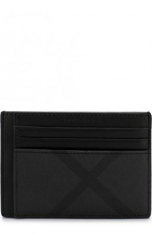 Футляр для кредитных карт в клетку London Check Burberry. Цвет: черный