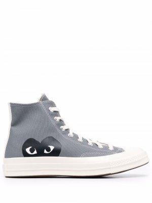 Chuck 70 high-top sneakers Comme Des Garçons Play x Converse. Цвет: серый
