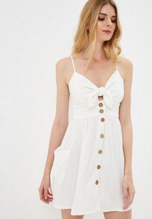 Платье Roxy. Цвет: белый