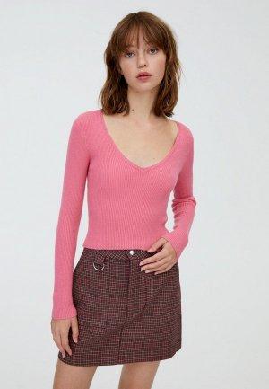 Свитер Pull&Bear. Цвет: розовый