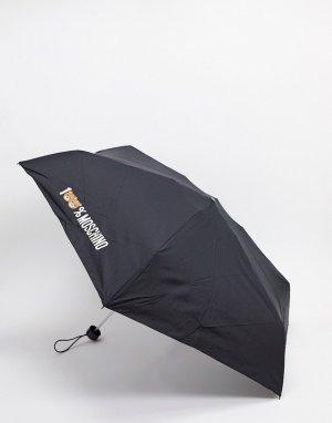 Черный маленький зонтик Moschino