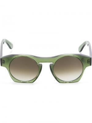 Солнцезащитные очки Suburra Monocle Eyewear. Цвет: зелёный